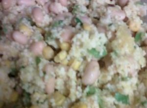 couscous, chicken and squash salad