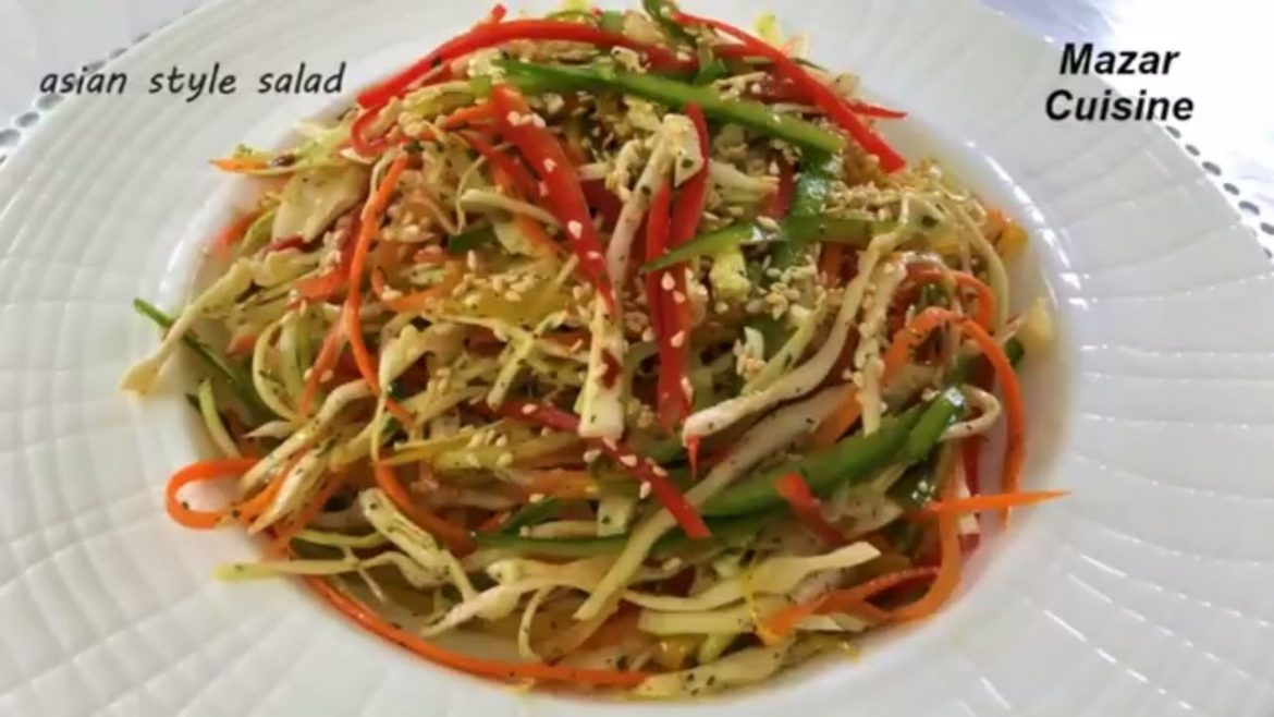 Asian Style Salad Recipe,Healthy Salad Recipe With Apple Cider Vinegar By Mazar Cuisine