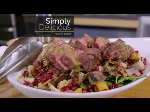 Flat Iron Steak with Roasted Veggie Salad (ButcherBox Flat Iron Steaks | Sear; Roast)