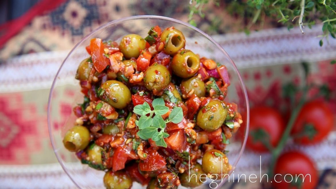 Olive Salad Bazerkani Recipe – Armenian Cuisine – Heghineh Cooking Show