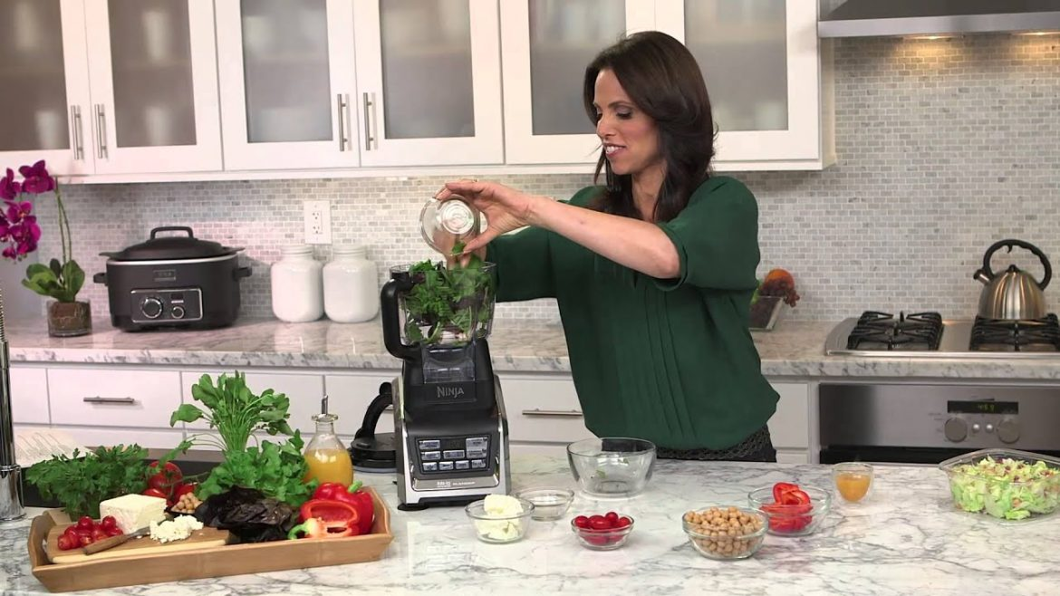 Rachel Beller and Ninja® Kitchen – Chop Chop Salad Recipe using Nutri Ninja® with Auto-iQ™