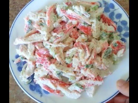 How to make an Imitation Crab Salad  – 99 CENTS ONLY store meal deal recipe