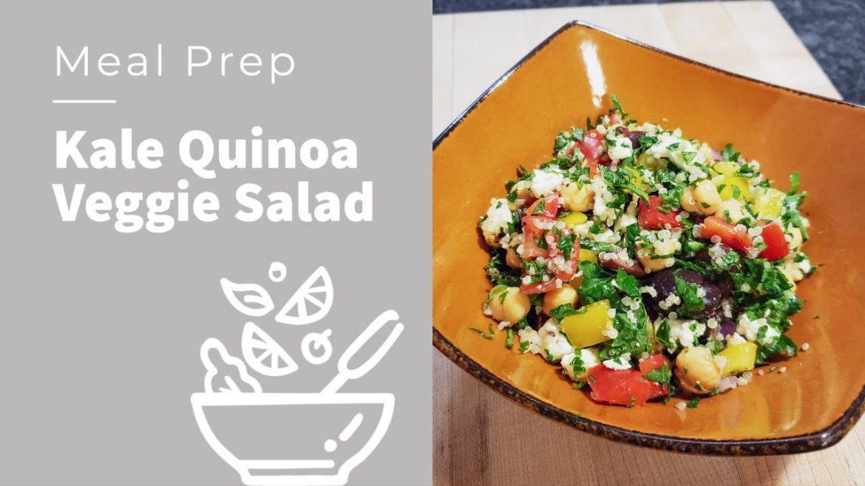 Meal Prep | Kale Quinoa Veggie Salad