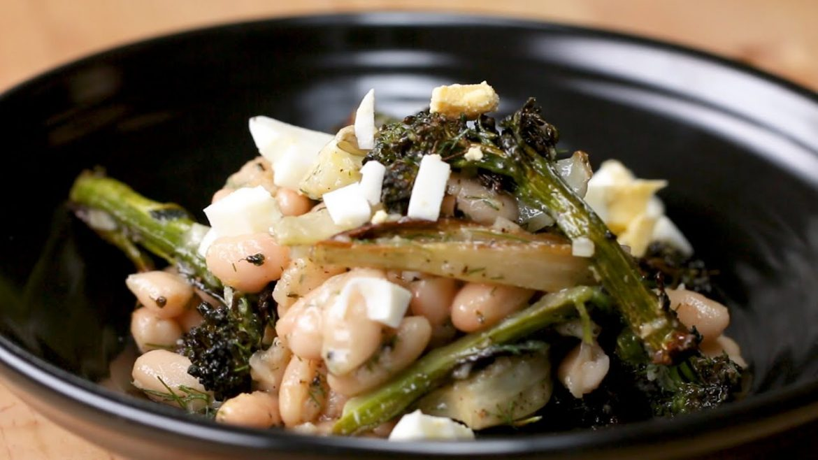 Roasted Veggie And White Bean Salad
