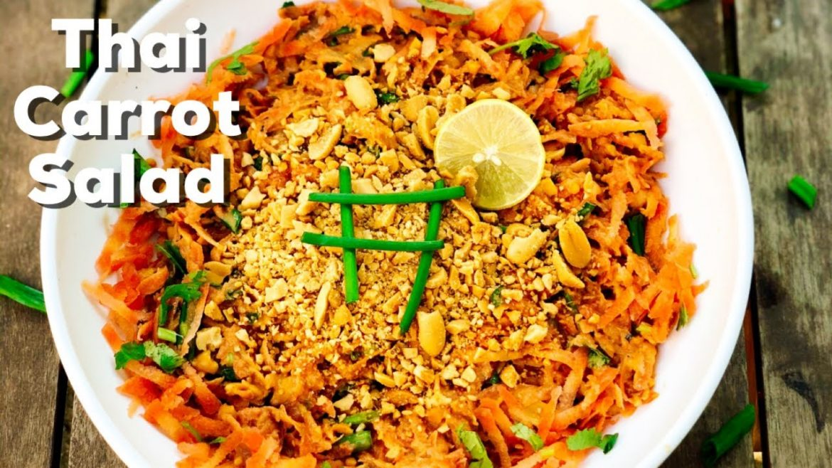 Thai Carrot Salad | Carrot Salad| Healthy Carrot Salad Recipe |Thai Peanut Dressing| Flavourful Food