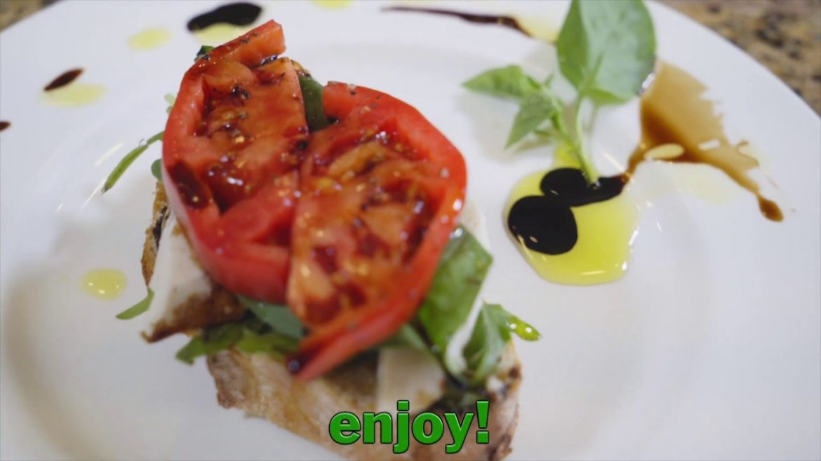 Vegan Caprese Toast with Balsamic Reduction