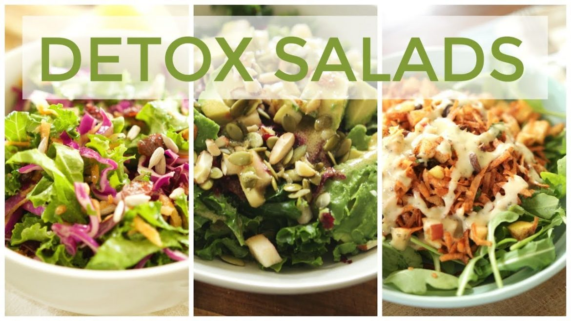 3 DETOX SALAD RECIPES | Easy & Healthy Recipes