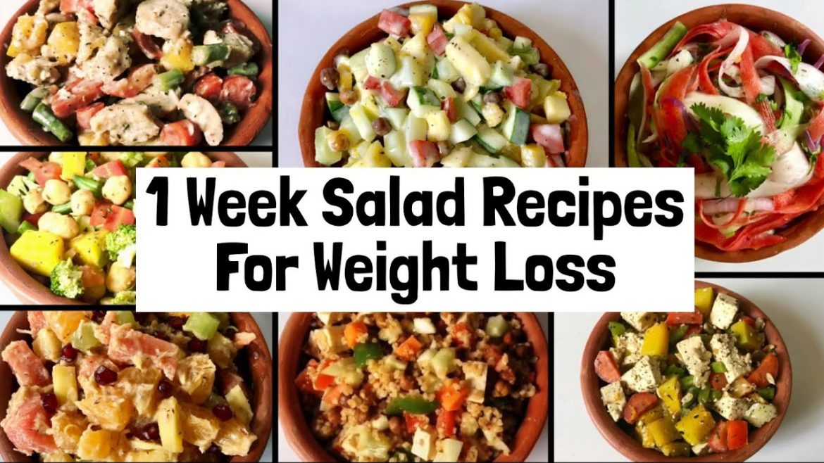 7 Healthy Easy Salad Recipes For Weight Loss 1 Week Veg Lunch Dinner Ideas To Lose Weight Easy Salad Recipes