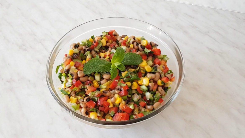 Easy bean salad – vegan