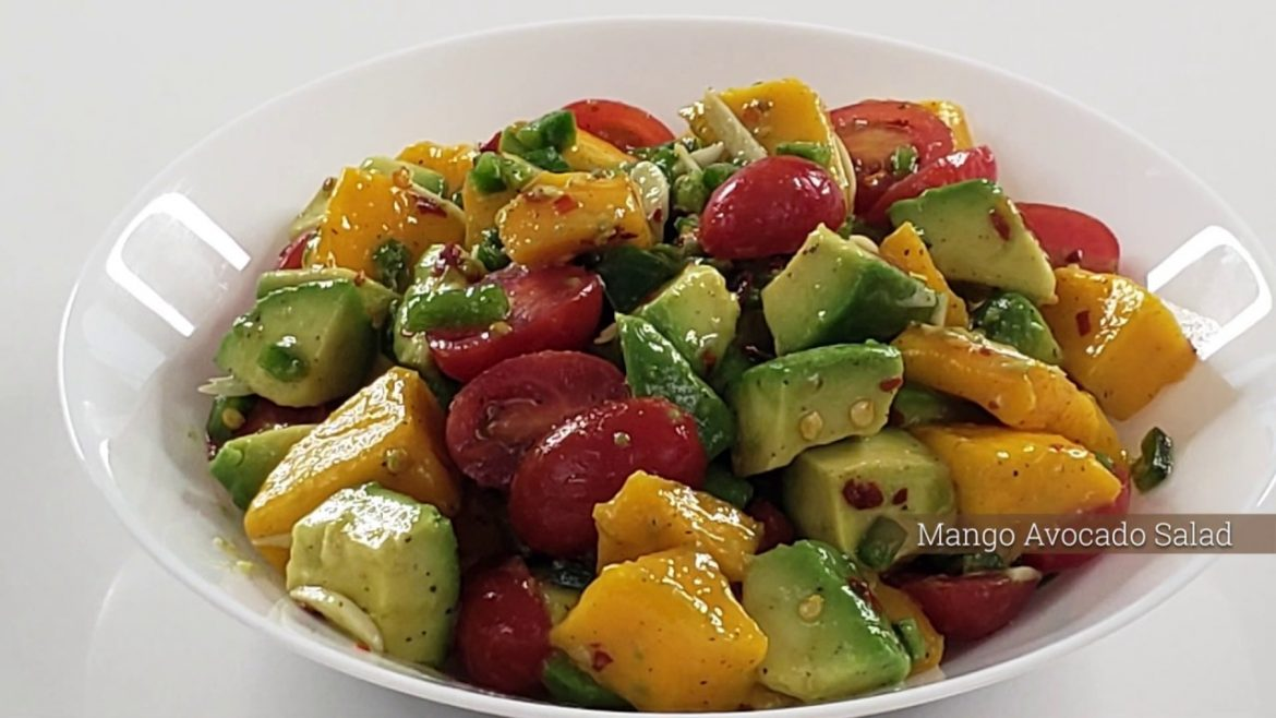 Mango Avocado Salad | 10 Minute Recipe | Dish & Devour