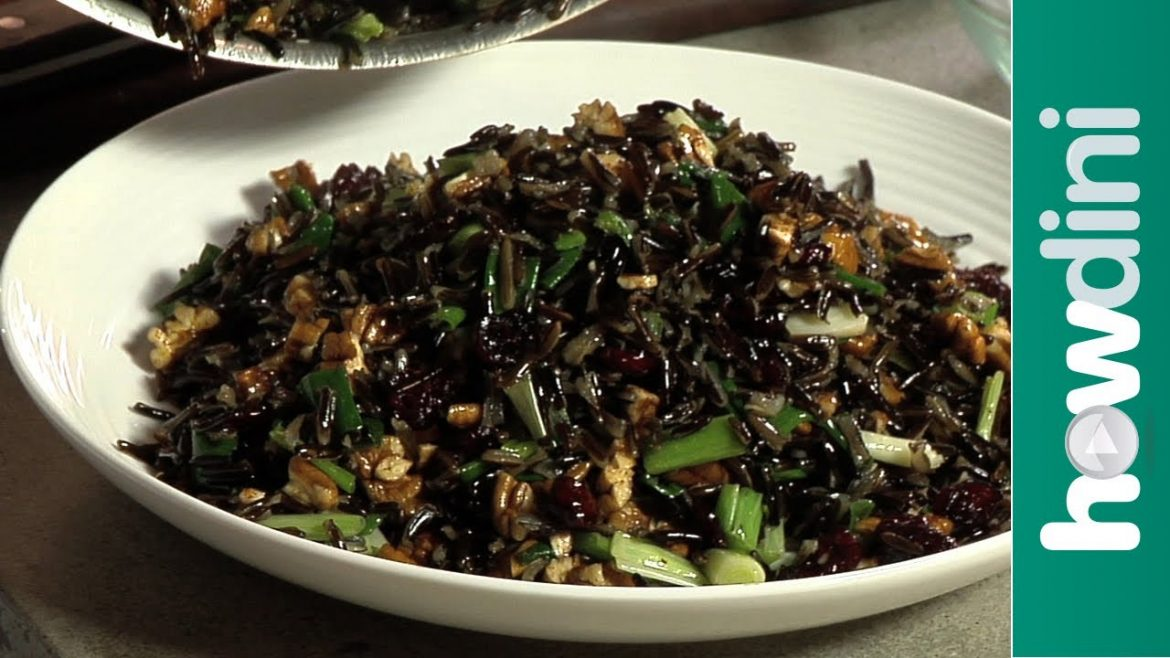 Wild rice salad recipe – Quick and easy wild rice salad with cranberry