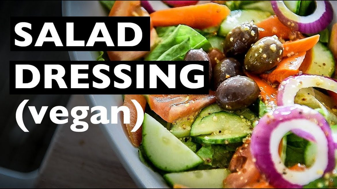 VEGAN SALAD DRESSING RECIPE | EASY ITALIAN SALAD DRESSING