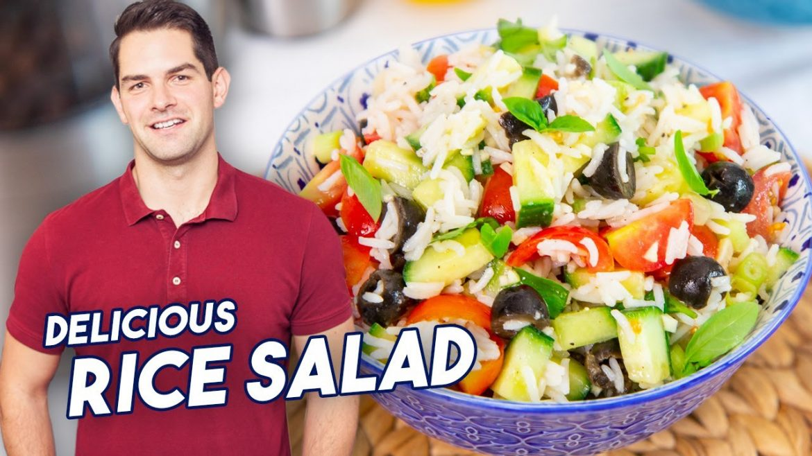Cold Rice Salad Recipe – SUPER Refreshing, Quick and Easy #Ad