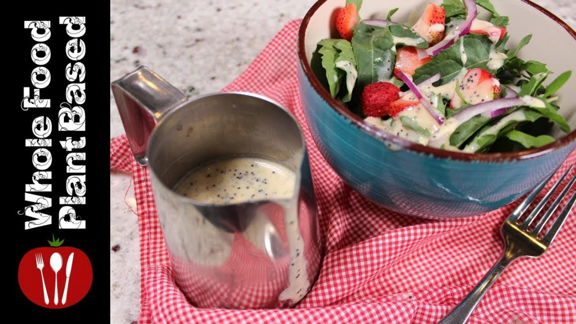 OIL FREE VEGAN SALAD DRESSING RECIPE » lemon poppyseed salad dressing