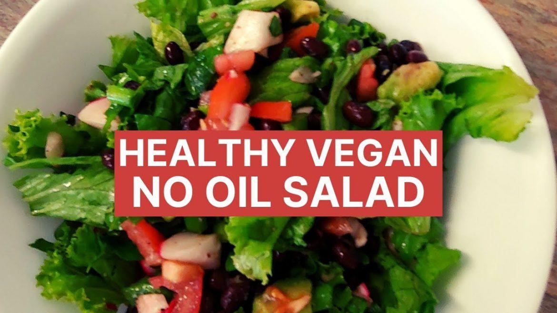 Healthy Vegan Salad with No Oil