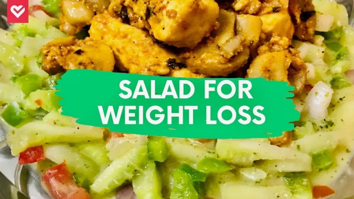 High Protein & Low Carb Salad for Weight Loss | Vegetarian Salad Recipe