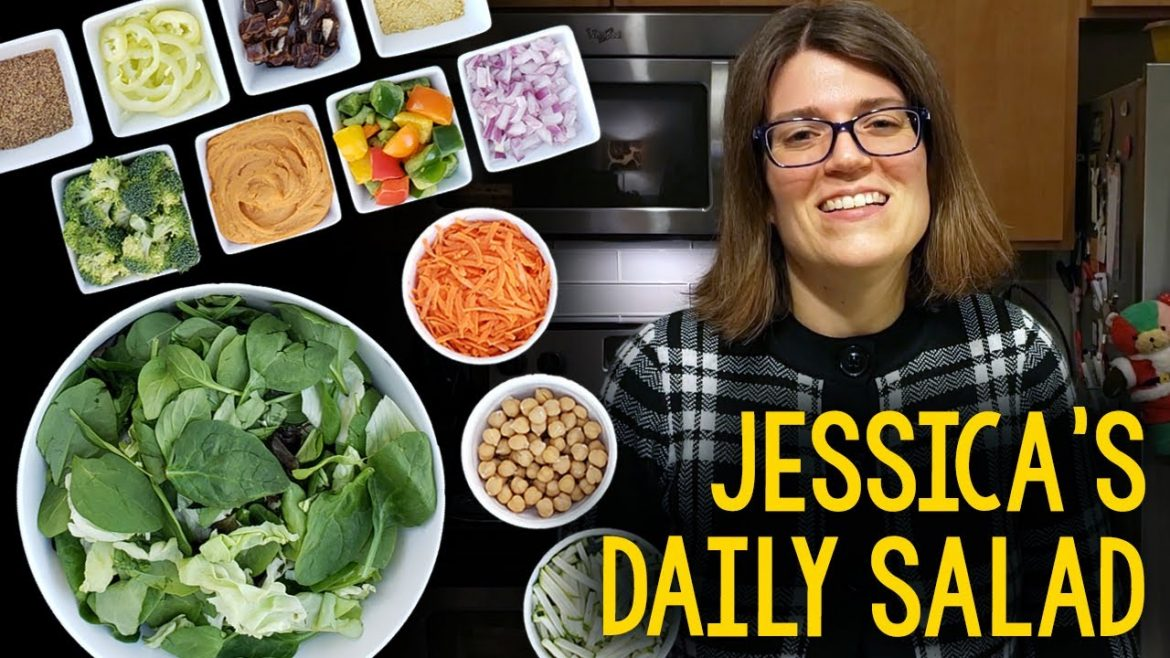 Recipe: Jessica's Daily Salad For Weight Loss (Whole Food Plant-Based, Vegan, Oil-Free)