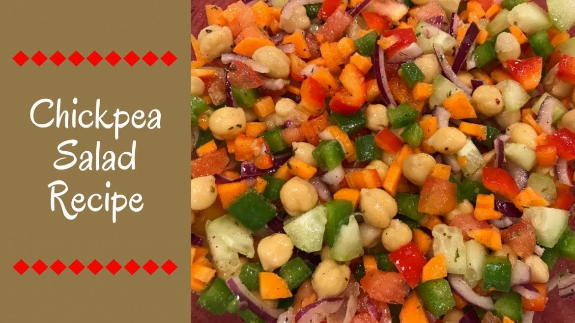 Chickpea Salad Recipe   Vegetarian, Healthy and Tasty   Fast to Make   Ami's Cooking