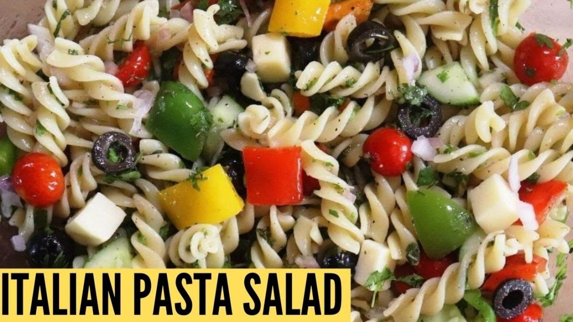 Easy cold pasta salad with Italian dressing | Italian pasta salad recipe | Veggie pasta salad recipe