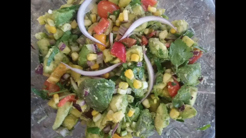Avocado & Pineapple Salad No Oils Or Salt100%Vegan