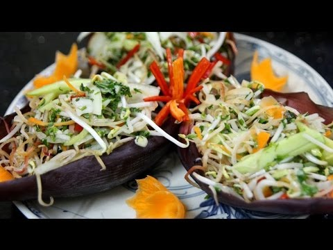 Banana Blossom Salad – Vietnamese Recipe – CookingWithAlia – Episode 297
