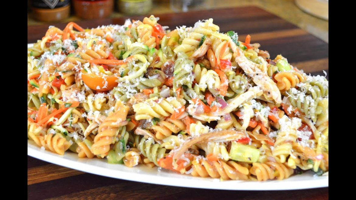 CHICKEN and VEGETABLE PASTA SALAD RECIPE | Cooking With Carolyn