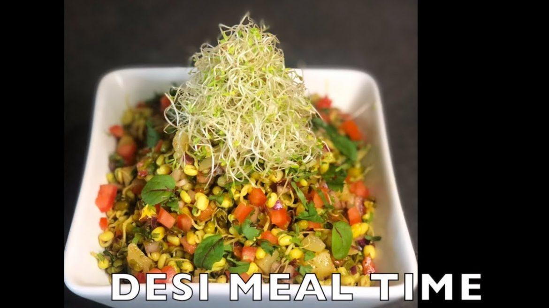 Dal Moth : Green Sprouts Healthy Salad Recipe ! Protein Salad Vegetarian Recipes ! vegan diet !!!