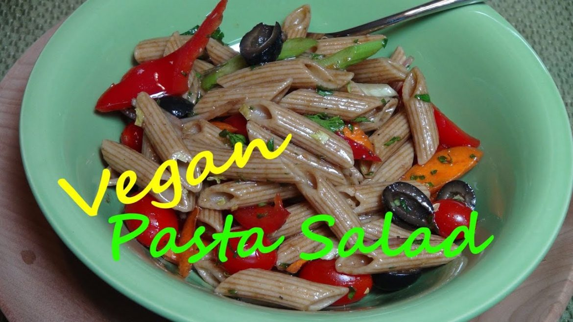 Pasta Salad with Balsamic Vinaigrette – Vegan Recipe