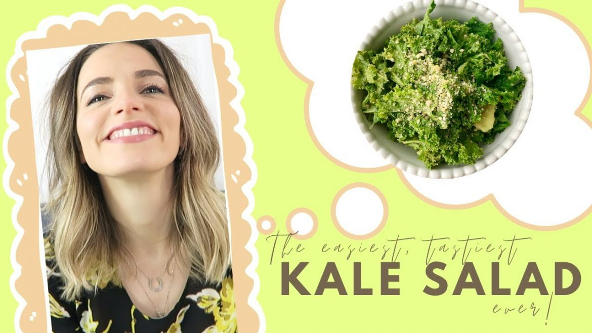 The Best-Tasting Kale Salad EVER (Easy One Bowl, 4 Ingredient Vegan Recipe) | Lauren Vacula