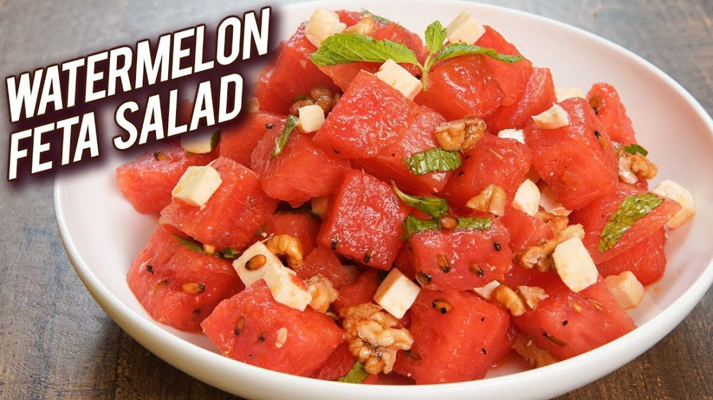Quick And Easy Salad Recipe – Watermelon Feta Salad Recipe – Summer Special Recipe – Bhumika
