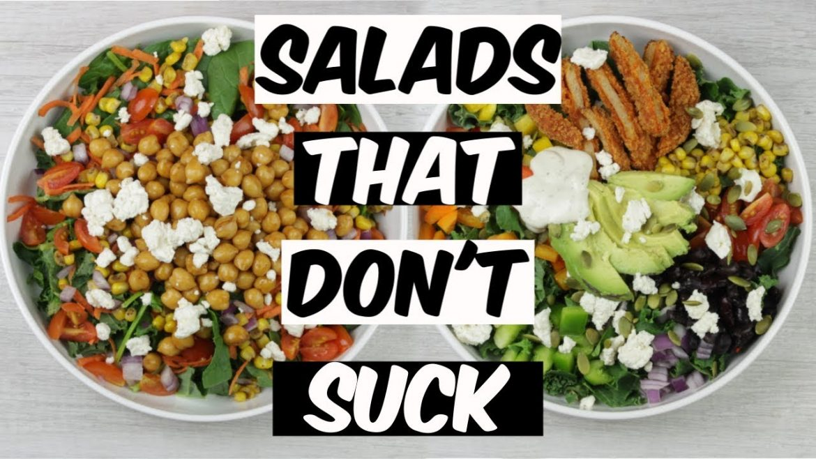 Satisfying VEGAN Salads That Don't Suck | Danielle Ines