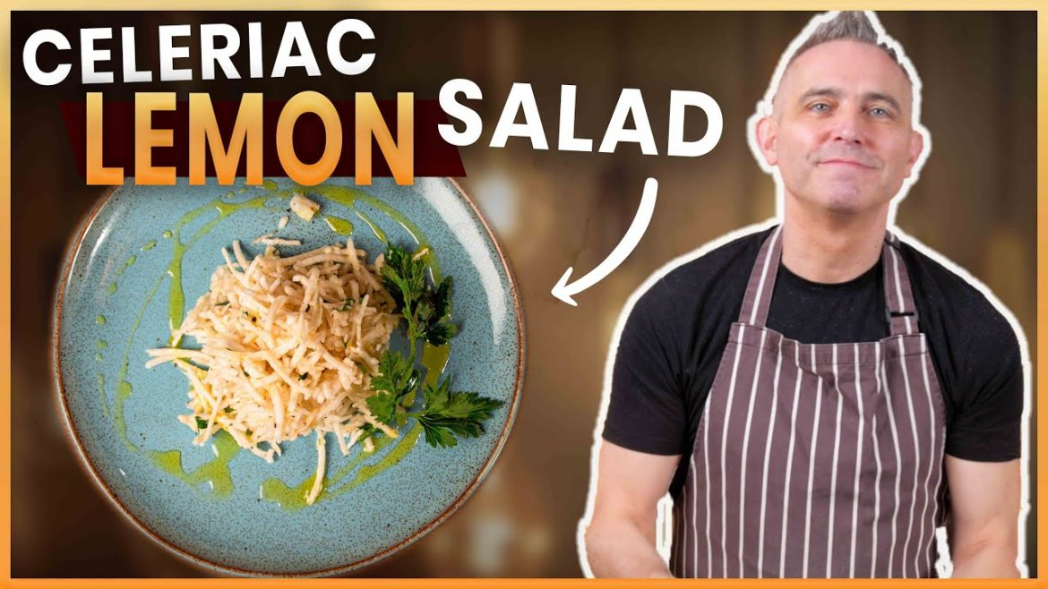 CELERIAC LEMON SALAD – Delicious Vegan Recipe