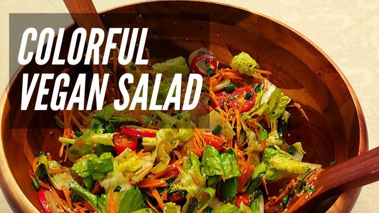 Colorful Vegan Salad