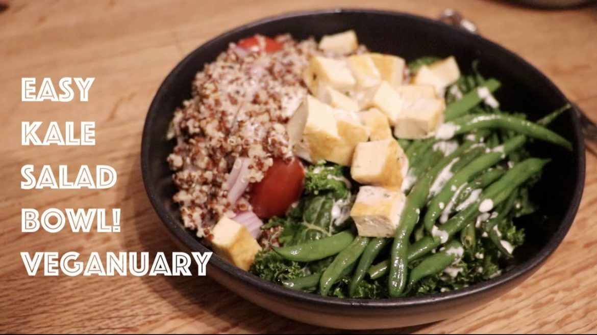 Easy Kale Salad Bowl! Veganuary!