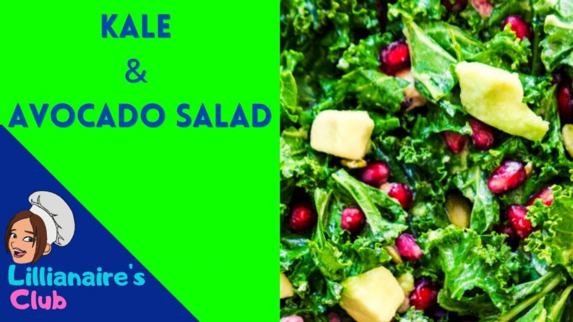 Kale and Avocado salad |  (vegan). #kalesalad