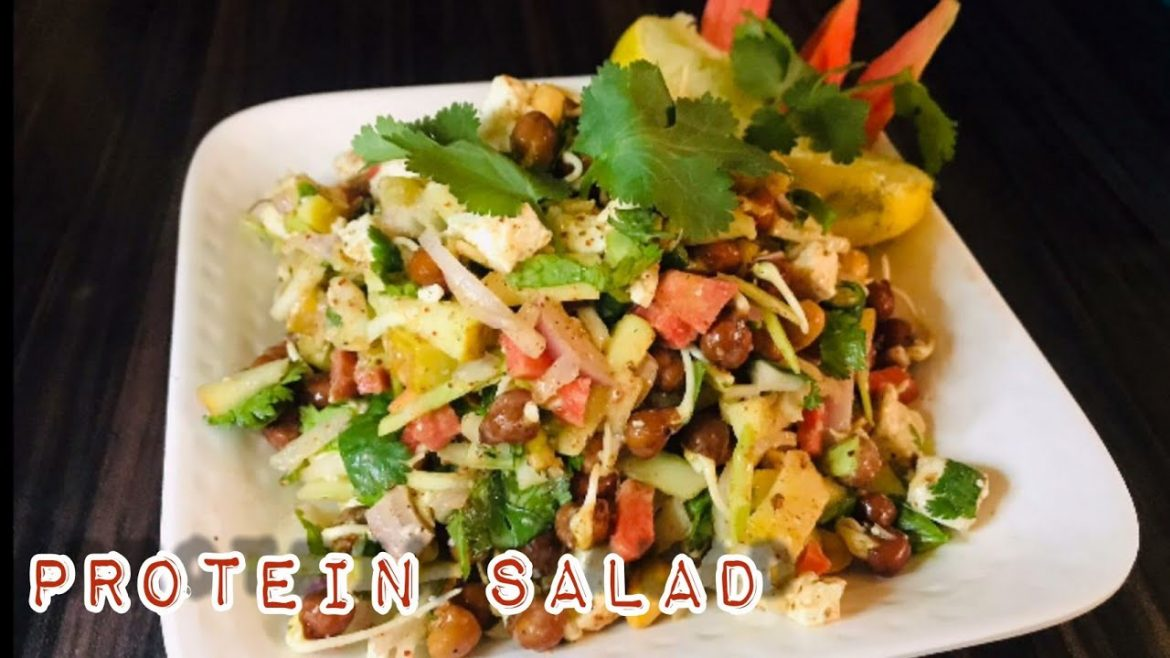 Protein Salad Recipe || Healthy vegetarian Recipe || Iraqui Zaika ||