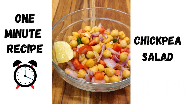 ONE MINUTE RECIPE – Chickpea Salad | Alexa wanna eat Something?