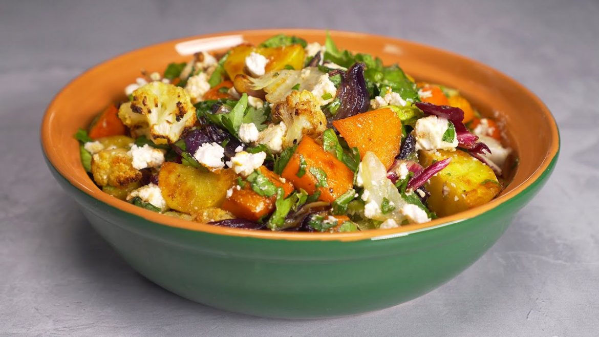 Roasted Vegetable Salad Recipe. Easy & Quick BUTTERNUT SQUASH SALAD. Recipe from Always Yummy!