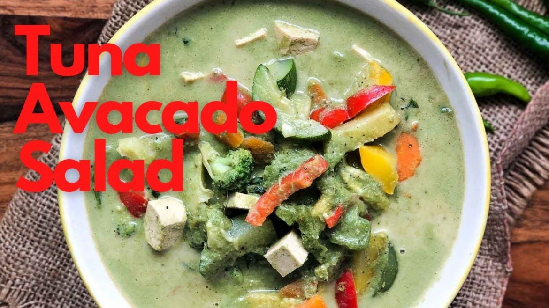 Curry Spiked Tuna and Avacado Salad