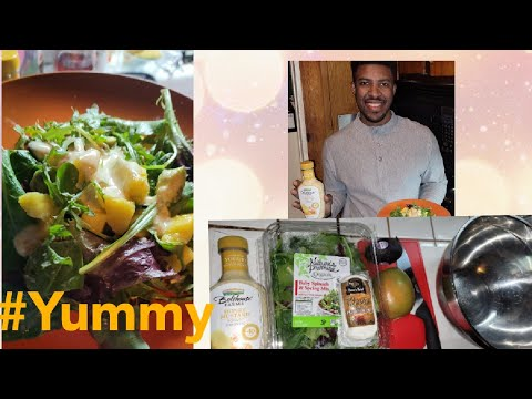 How to make Delicious Baby Spinach Mango Avocado Salad