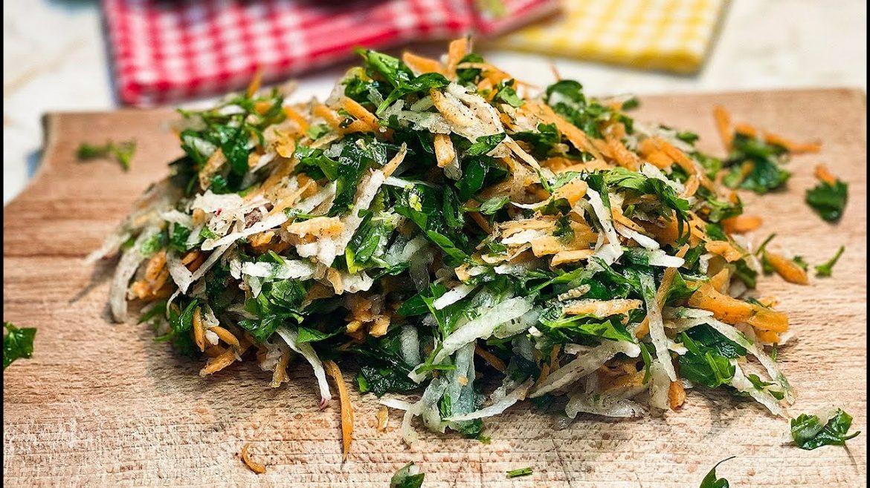 Turkish Radish – Carrot Salad Recipe. You'll Love This ! Harika Bir Turp – Havuç Salatası Tarifi !