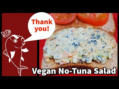 Vegan No-Tuna Salad – No Cooking & No Food Processor or Blender Needed.