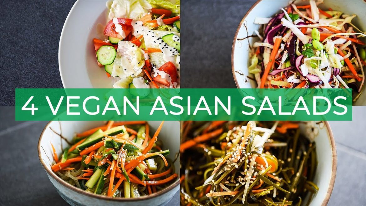 4 VEGAN ASIAN SALAD RECIPES | SUPER EASY SUMMER DISH IDEAS