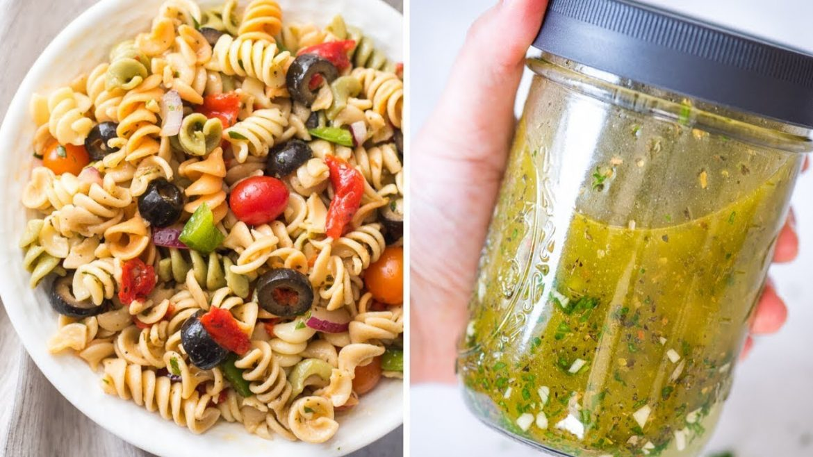 Vegan Pasta Salad with Homemade Italian Dressing