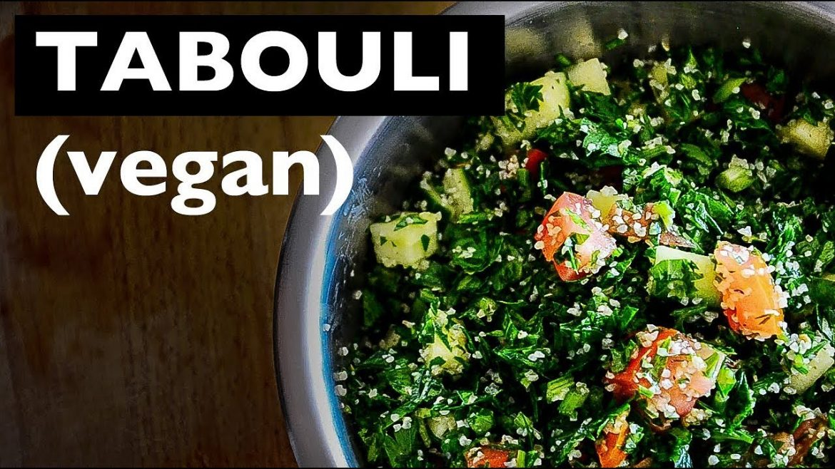 EASY VEGAN TABOULI RECIPE | TRADITIONAL LEBANESE SALAD RECIPE | BEST VEGAN HOW TO RECIPES