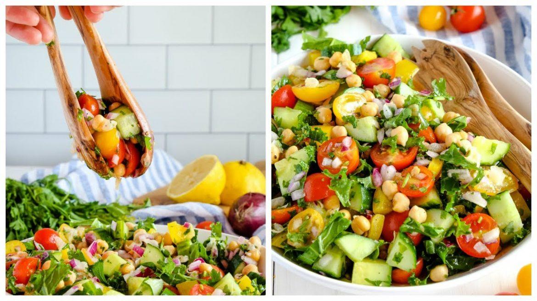 How to Make Mediterranean Chickpea Salad
