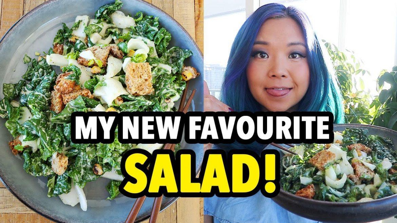 OMG My Favourite Salad! Vegan Bok Choy Caesar Salad Recipe