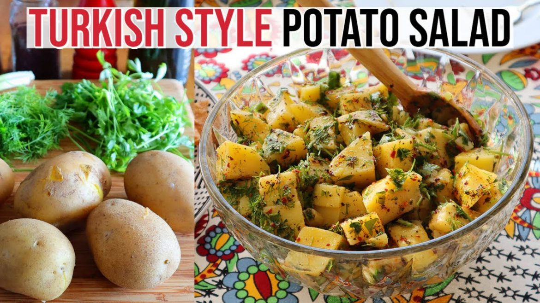 Turkish Style Potato Salad | Vegan, Healthy & Delicious