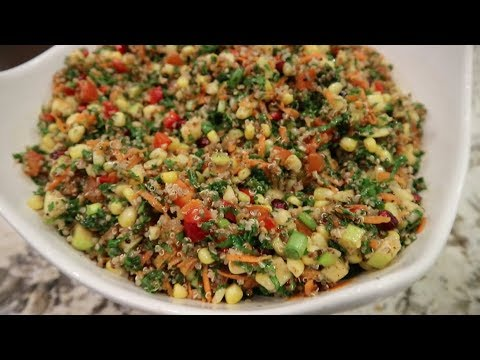 Vegan Quinoa Kale Salad | Healthy Salad Recipe
